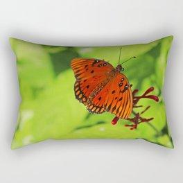A Gulf Fritillary Rectangular Pillow