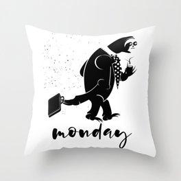 Sloth Monday's Throw Pillow