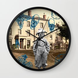 haunted child Wall Clock