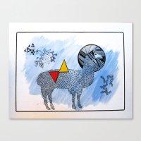 lama Canvas Prints featuring LAMA. by FRAN MONDELLO