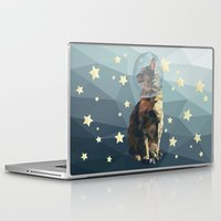 space cat Laptop & iPad Skins featuring Space Cat. by Dani Does Art