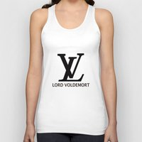lv Tank Tops featuring LV Lord Voldemort  by A Fuckin' Teenage Tragedy