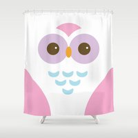 marauders Shower Curtains featuring SMILE OWL by alexa