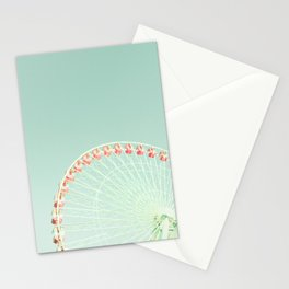 Nursery ferris wheel over mint sky Stationery Cards