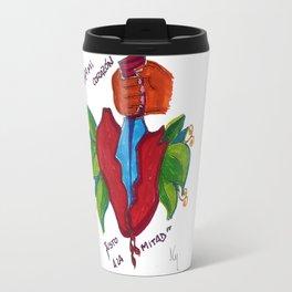 Abra mi corazón Travel Mug