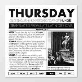 THURSDAY & THE MYTH BEHIND IT Canvas Print