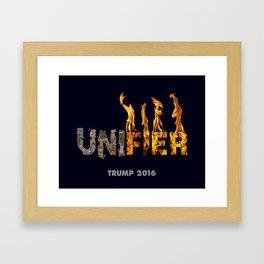 Trump The Unifier. Framed Art Print