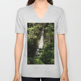 Rainbow Springs Waterfall Unisex V-Neck