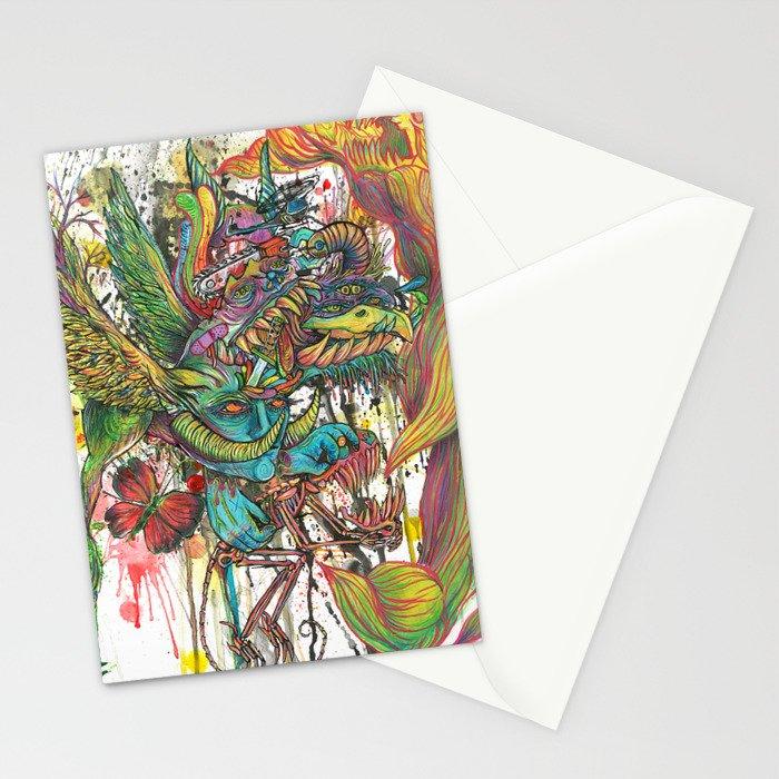 skeleton swimming Stationery Cards