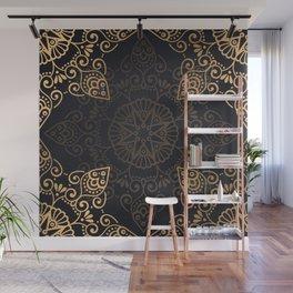 Black & Gold Mandala Wall Mural