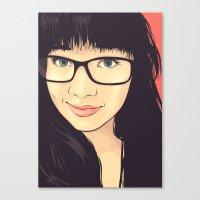 geek Canvas Prints featuring Geek by FalcaoLucas