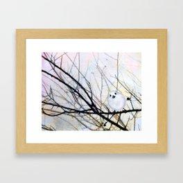 Winter Birdie Framed Art Print