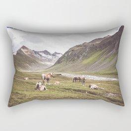 Tyrolean Haflinger horses I Rectangular Pillow