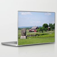 battlefield Laptop & iPad Skins featuring Barn on the Battlefield by Scenic Sights by Tara
