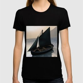 Fishing Sailboat at Dawn by Marijan Zubak T-shirt