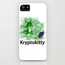 Kryptoktty iPhone Case