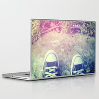 converse Laptop & iPad Skins featuring Converse by Jane Mathieu
