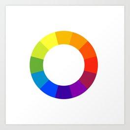 Pantone color wheel Art Print