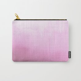 Blush pink modern watercolor paint brushstrokes pattern Carry-All Pouch