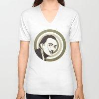salvador dali V-neck T-shirts featuring Salvador Dali by Kristjan Lyngmo