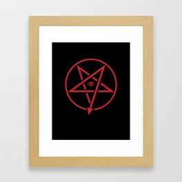 Adversary Pentagram Framed Art Print