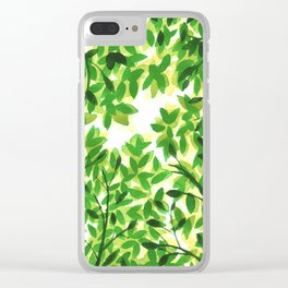 Sun Through the Leaves Clear iPhone Case