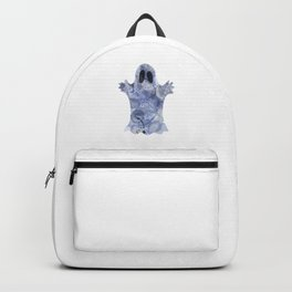 Funny illustration of a ghost Backpack