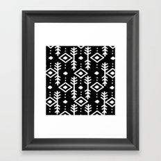 BLACK NORDIC Framed Art Print