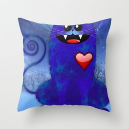 BIG BLUE Throw Pillow