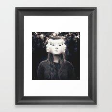 Three Faced Framed Art Print