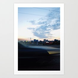 berlin is passing by Art Print