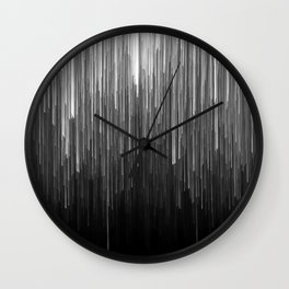 The Lights (Black and White) Wall Clock