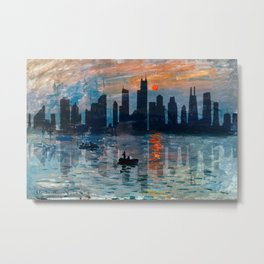 Chicago Skyline 5 Metal Print