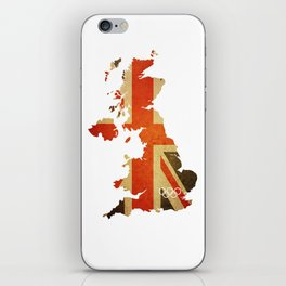 Union Jack Map - Olympics London 2012 iPhone Skin
