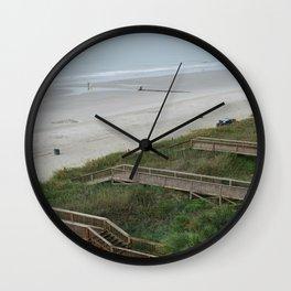 Wooden Walkways Wall Clock