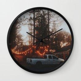 Big Bear Lodging Wall Clock