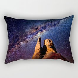 Colorful Milky Way Mountain Rectangular Pillow