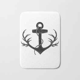 Antlered Anchor Bath Mat