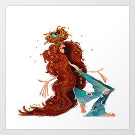 Cheerful Hippie Art Print