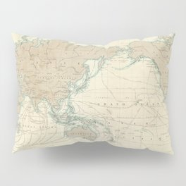 Vintage Map of The World (1862) Pillow Sham