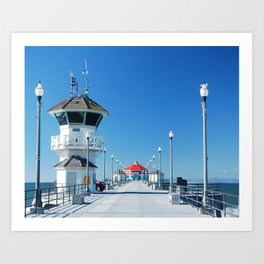 A Winter's Day Huntington Beach Pier Art Print