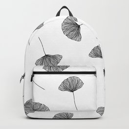 B&W Ginko Leaves Backpack