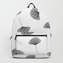 B&W Ginko Leaves Backpack