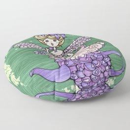 Fairy and Teapot Floor Pillow
