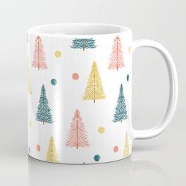 Neon Christmas Trees Coffee Mug