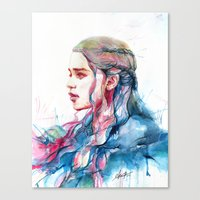 alicexz Canvas Prints featuring Dragonqueen by Alice X. Zhang