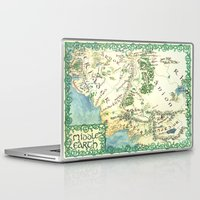 middle earth Laptop & iPad Skins featuring Middle Earth map by Ioreth