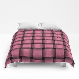 Large Dark Pink Weave Comforters