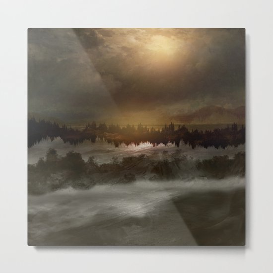 Magical sunset in winter Metal Print