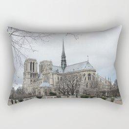 Notre Dame in Winter Rectangular Pillow